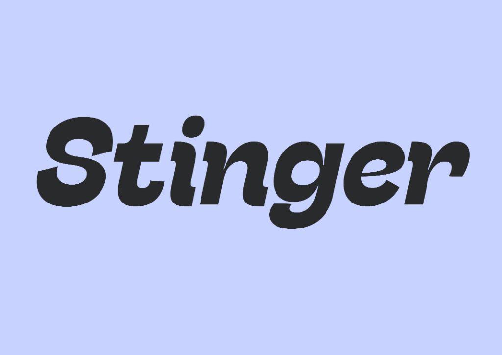 stinger best free fonts free serif fonts free sans serif fonts free typefaces free new 2021 fonts free fonts 2021 stinger